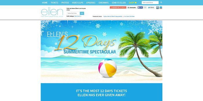 EllenTV.com/Summer12Days - Ellen's 12 Days Summertime Spectacular