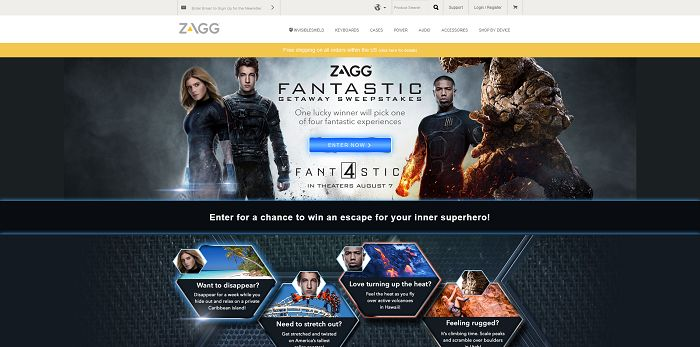ZAGG Four Fantastic Destinations Sweepstakes
