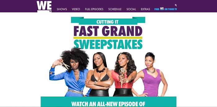 WEtv.com/FastGrand - Cutting It Fast Grand Sweepstakes