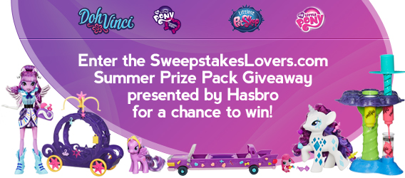 SweepstakesLovers.com Summer Prize Pack Giveaway presented by Hasbro