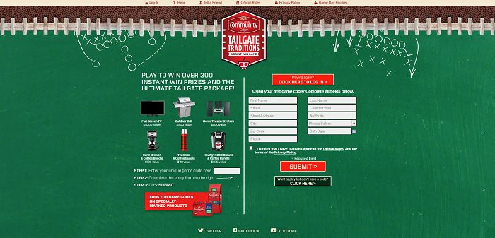 CCCTailgateTraditions.com - Community Coffee Tailgate Traditions Promotion