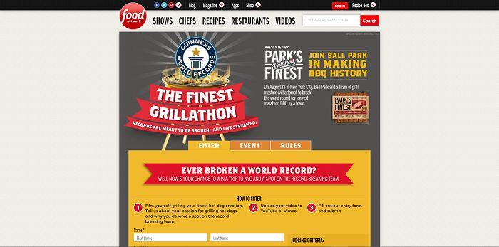 FoodNetwork.com/FinestGrillathon - The Finest Grillathon Contest