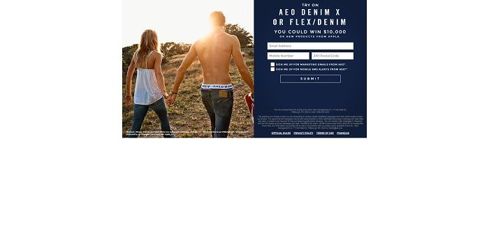 American Eagle Outfitters Back To School Try On Event Sweepstakes