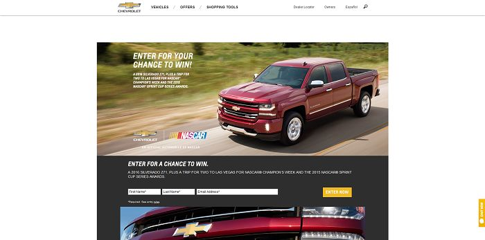 WinYourChevy.com - Chevrolet Sweepstakes