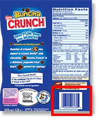 nestle crunch upc code