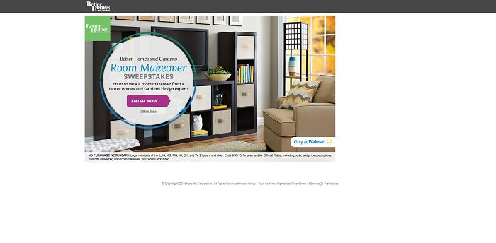 BHG.com/RoomMakeover - BHG Room Makeover Sweepstakes