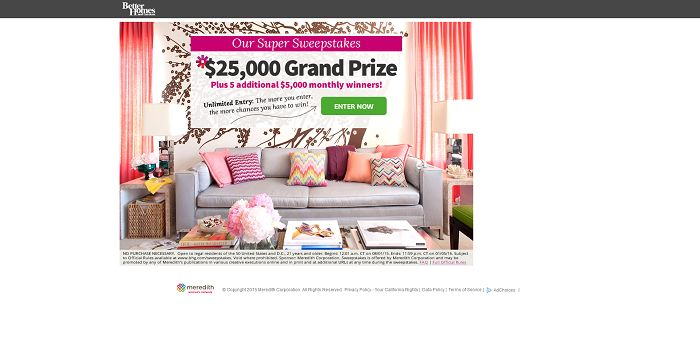 BHG $50,000 Sweepstakes
