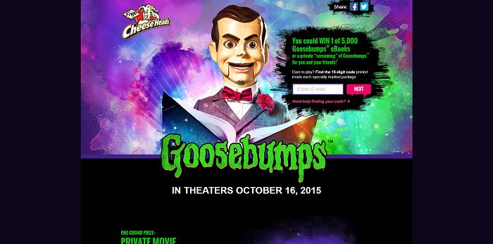 eBookInstantWin.com - Frigo Cheese Heads Goosebumps Instant Win Game And Sweepstakes