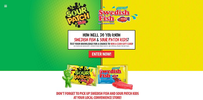 Swedish Fish and Sour Patch Kids Sweepstakes