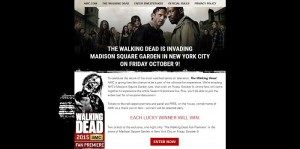 AMC.com/FanPremiereSweepstakes - The Walking Dead Fan Premiere Sweepstakes