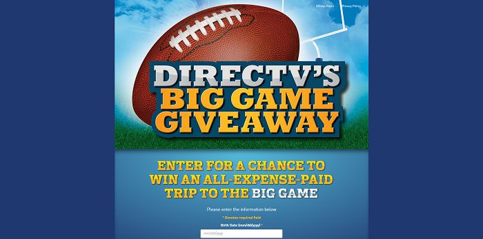 DirectvSweepstakes.com - DIRECTV's Big Game Sweepstakes