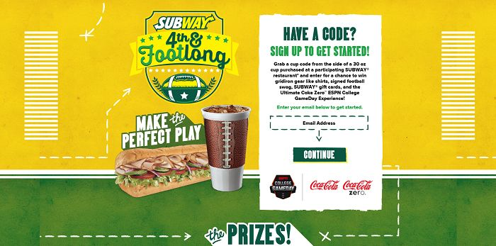 FourthAndFootlong.com - Subway's Fourth and Footlong Promotion