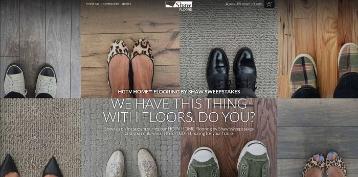 HGTV HOME Flooring by Shaw Sweepstakes