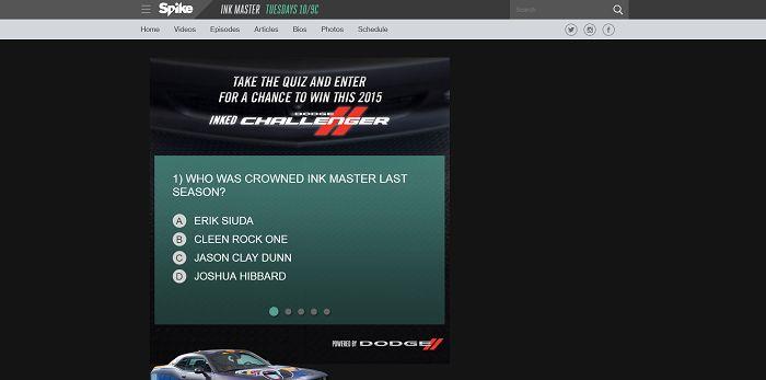 InkedChallenger.Spike.com - Dodge Inked Challenger Sweepstakes