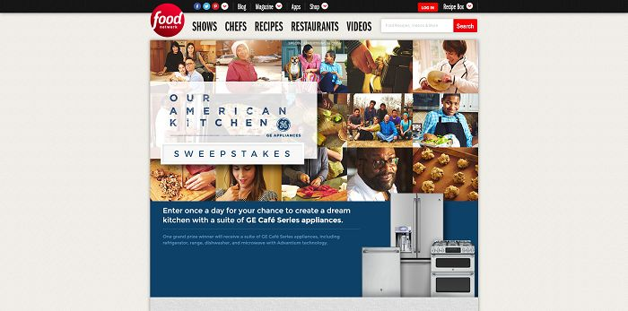 FoodNetwork.com/OurAmericanKitchen - Food Network Our American Kitchen Sweepstakes