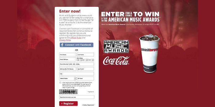 SmashburgerMusic.com - Smashburger And Coca-Cola AMA Sweepstakes