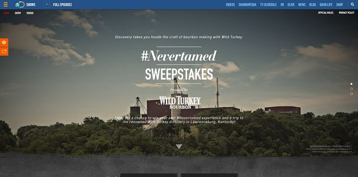 WildTurkeyTour.com - Wild Turkey NeverTamed Sweepstakes