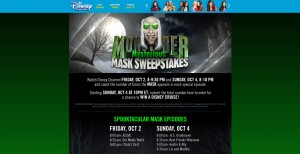 DisneyChannel.com/Mask - Disney Channel Monstober Mysterious Mask Sweepstakes