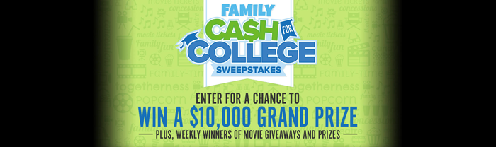 Fandango's Cash for College Sweepstakes 2016