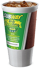 subway fourth and footlong cup code