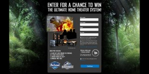Barbasol Jurassic World Ultimate Home Theater System Sweepstakes