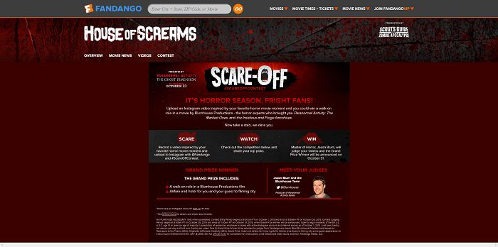 Fandango's Scare-Off Video Contest
