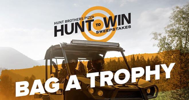HuntBrothersPizza.com/HuntToWin - Hunt Brothers Pizza Hunt To Win Sweepstakes 2016