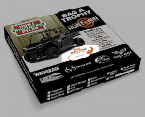 Hunt Brothers Pizza HuntToWin Pizza Box