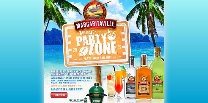 Margaritaville Spirits Party Your Tail Off Sweepstakes (MargaritavilleNoPassportRequired.com)