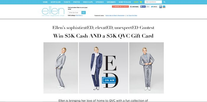 Ellentv.com/QVC - Ellen's QVC Holiday Contest