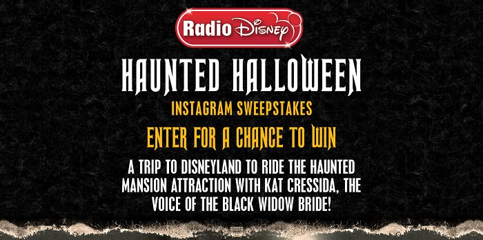 Radio Disney Haunted Halloween Instagram Sweepstakes