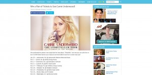 Ellen's Win a Pair of Tickets to See Carrie Underwood Giveaway