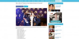 Ellen's Win a Pair of Tickets to See Selena Gomez in Concert Giveaway