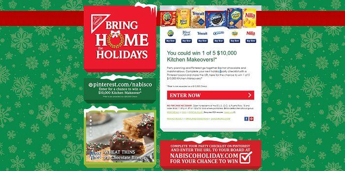 NabiscoHoliday.com - Nabisco 2015 Bring Home The Holidays Sweepstakes