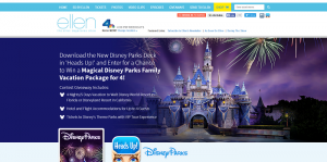 Ellen's Win a Magical Theme Parks Family Vacation Package Giveaway