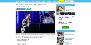 Ellen's Win a Pair of Tickets to See Charlie Puth on Tour Giveaway