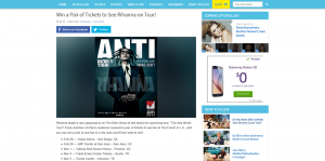 Ellen's Win a Pair of Tickets to See Rihanna on Tour Giveaway