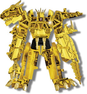 Power Rangers Limited Gold Edition Dino Charge Megazord toy