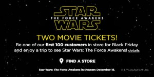 Kohl's Black Friday Movie Ticket Giveaway