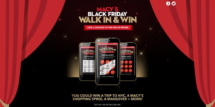 Macy's Black Friday Walk In And Win (Macys.com/Win)