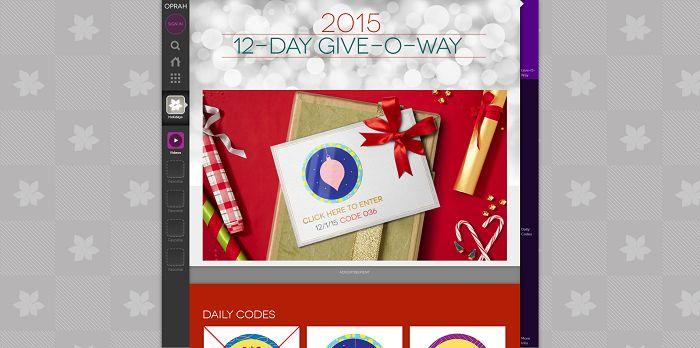 Oprah's 12-Day Give-O-Way