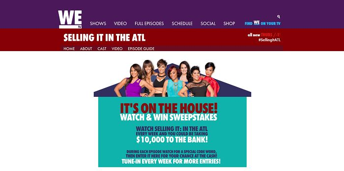WEtv It's On the House! Watch and Win Sweepstakes