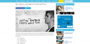 Ellen's Win Tickets to Justin Bieber's Purpose World Tour Giveaway