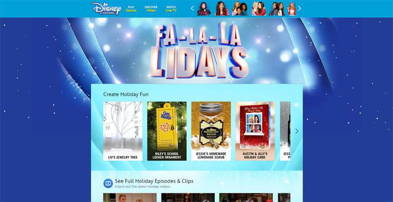 Disney Channel's Dazzle Your Holiday Sweepstakes