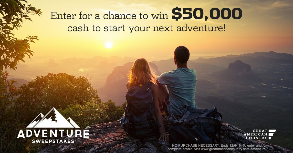 Great American Country Adventure Sweepstakes (GreatAmericanCountry.com/Adventure)