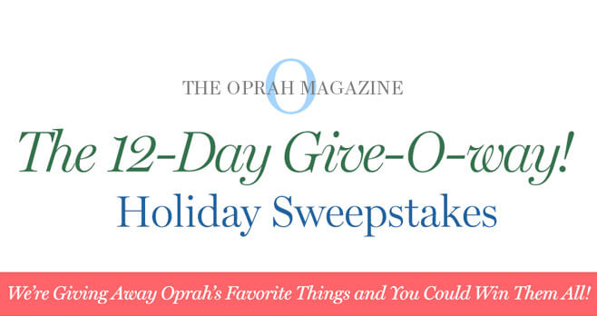 Oprah 12 Days of Christmas Giveaway 2018