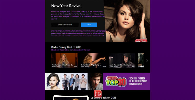 Radio Disney New Year REVIVAL Sweepstakes