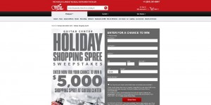 Guitar Center Holiday Shopping Spree Sweepstakes