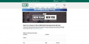DICK'S Sporting Goods New Year, New You Sweepstakes