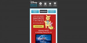 Disney Movie Rewards Favorite Things Giveaway